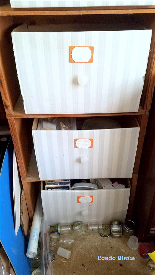 vintage wood crate dresser