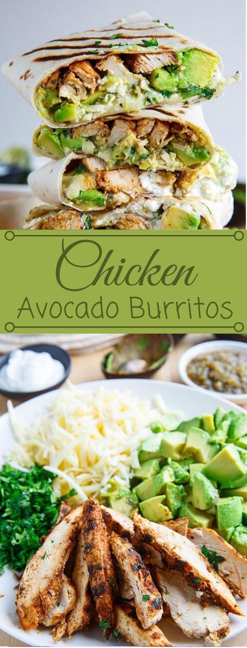 Chicken and Avocado Burritos #dinner #avocado #chicken #lunch #shrimp
