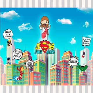 decoração culto infantil jesus herói