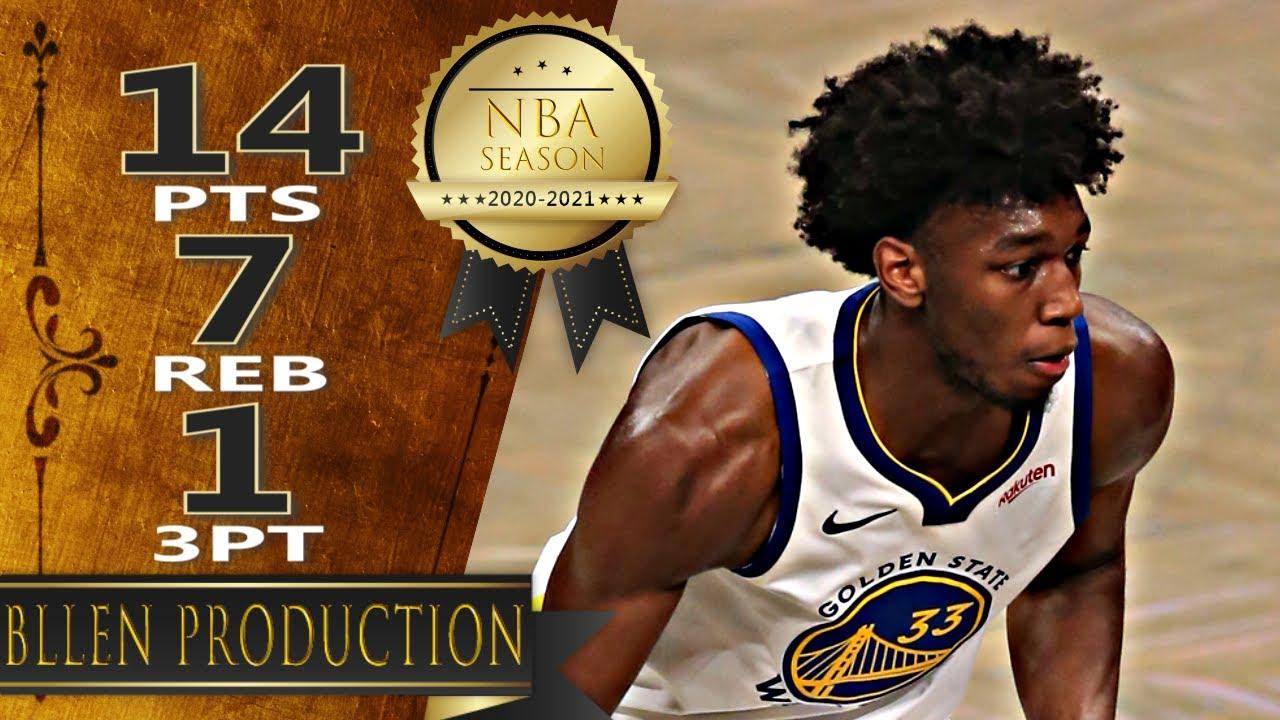 James Wiseman 14pts 7reb vs LAC   March 11, 2021   2020-21 NBA Season