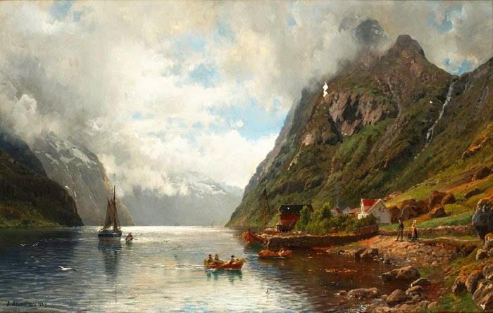 Anders Monsen Askevold Norveç Fiyort Manzarası