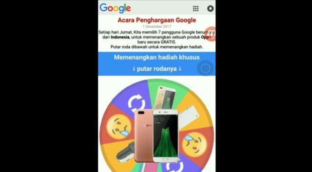 Apakah Hadiah dari Google Spin itu Benar