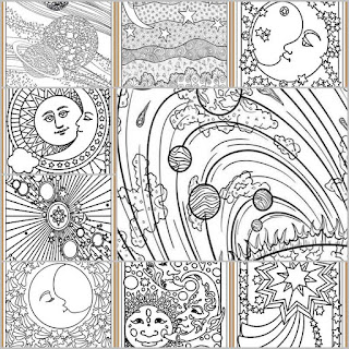 9 printable planets coloring pages for adult