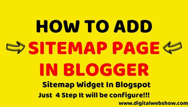 how to add sitemap page in blogger