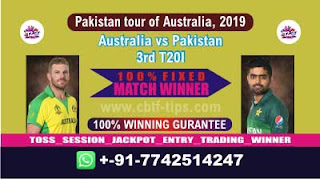 Who will win Today 3rd T20I, Match Pak vs Aus , Cricket Win Tips