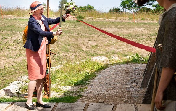 Queen Margrethe attended the opening of Viking Kings Hall at Land of Legends Museum in Lejre. The Kings Hall is the large Viking house