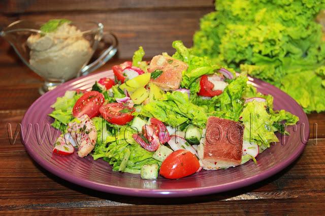 рецепт салата фатуш