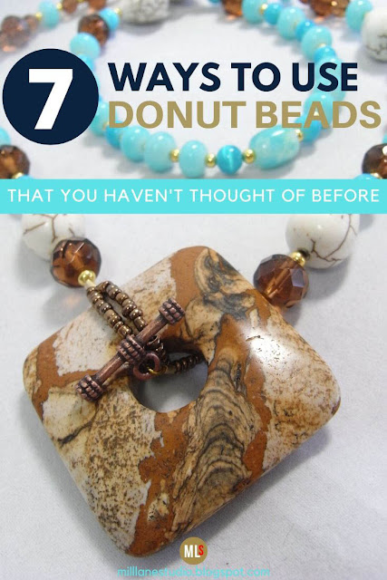 Square picture jasper donut bead used as a toggle with copper bar inspiration sheet