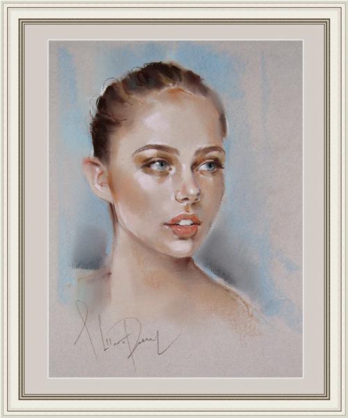 портрет пастелью, портрет девушки