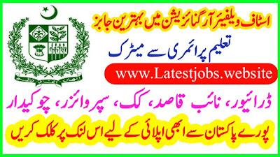 Staff Welfare Organization Vacancies 2019
