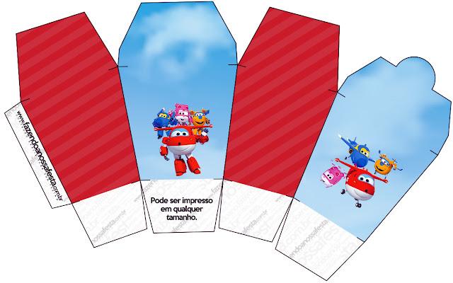 Super Wings Free Printable Boxes.