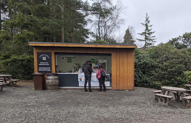 Coffee Kiosk at Crozier Car Park Cragside