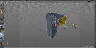 Ekstrusi poligon ke arah yang berbeda