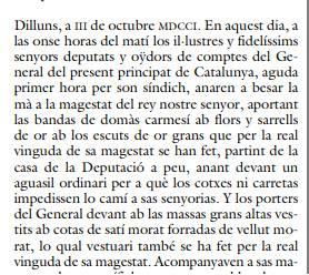 dirigentes catalanes a su señor Rey Felipe V