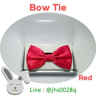 dasi kupu kupu merah bow tie red dewasa