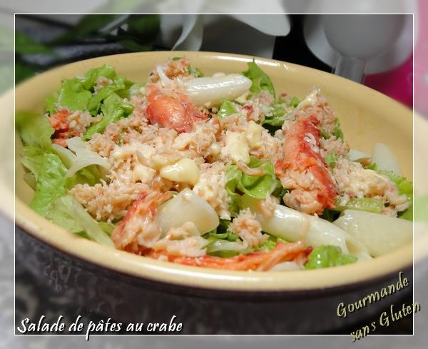 Salade de pâtes sans gluten au crabe