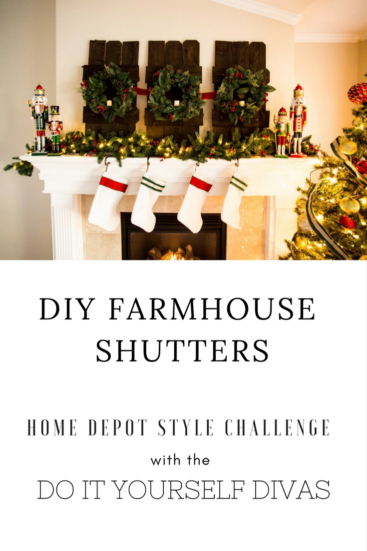 do it yourself divas: Decorating A Mantle For Christmas With Home Depot