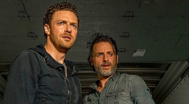 "Aaron y Rick, 7x08 ""Hearts Still Beating"" de 'The Walking Dead'"