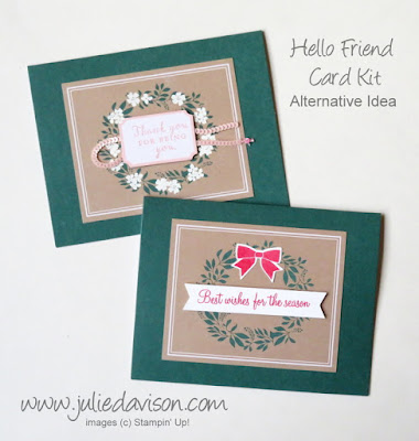 Stampin' Up! Hello Friend Card Kit Christmas Makeover ~ www.juliedavison.com