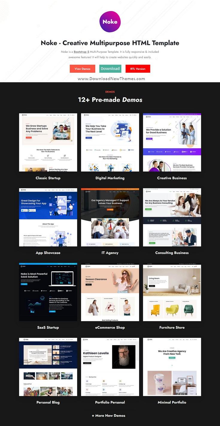 Creative Multipurpose Bootstrap 5 Template