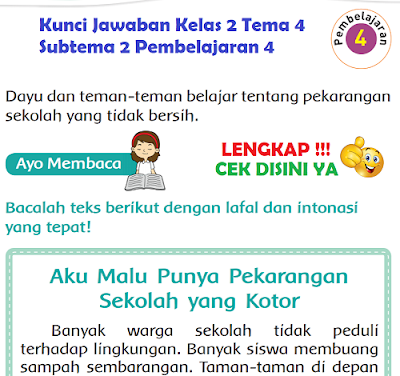 Kunci Jawaban Tematik Kelas 2 Tema 4 Subtema 2 Pembelajaran 4 Halaman 79, Halaman 80, Halaman 81, Halaman 84, Halaman 85, www.simplenews.me