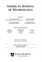 AMERICAN JOURNAL OF MATHEMATICS COVER