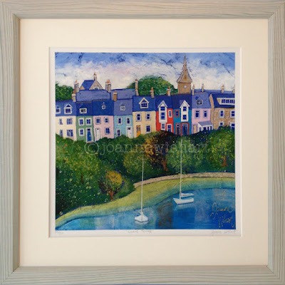 Alnmouth, Northumberland, Colourful houses, coastal painting, northumberland picture, northeast art