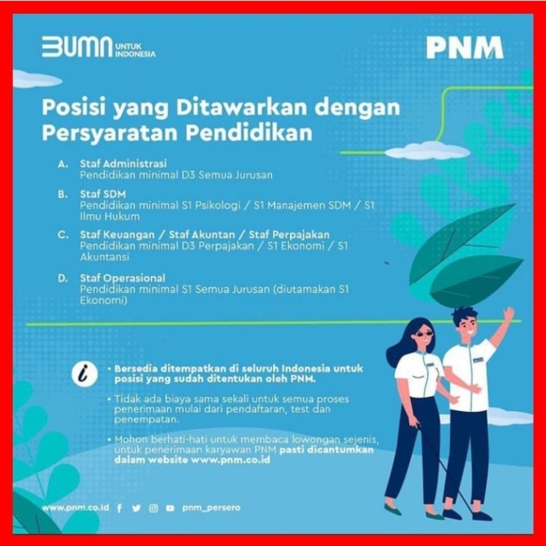 Lowongan Kerja Bumn Medan April 2021 Di Pt Permodalan Nasional Madani Persero Tbk Lowongan Kerja Medan Terbaru Tahun 2021