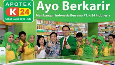 Informasi Rekrutmen Karyawan PT K-24 Indonesia (Apotek K-24) - Periode April - Juli 2020
