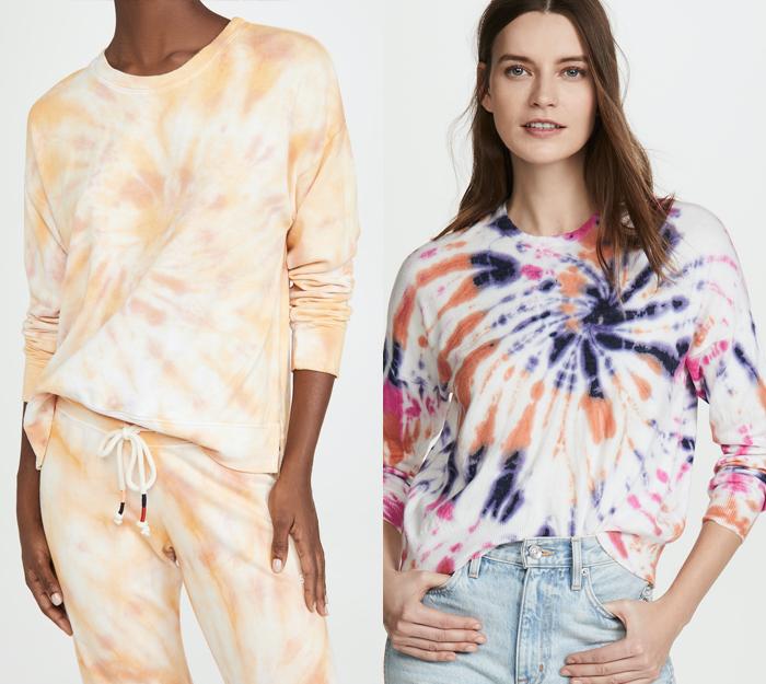 Spring trends 2021, tie dye sweatshirts