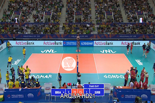 FIVB Volleyball Nations League AsiaSat 5 Biss Key 15 June 2019