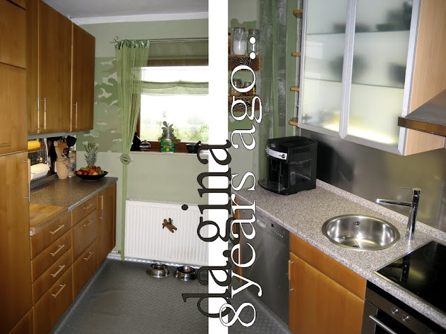 vintage die k che vorher nachher. Black Bedroom Furniture Sets. Home Design Ideas