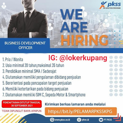 Lowongan Kerja PKSS Kupang Sebagai Business Development Officer