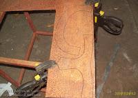 Piezas marcadas para corte de casco vikingo