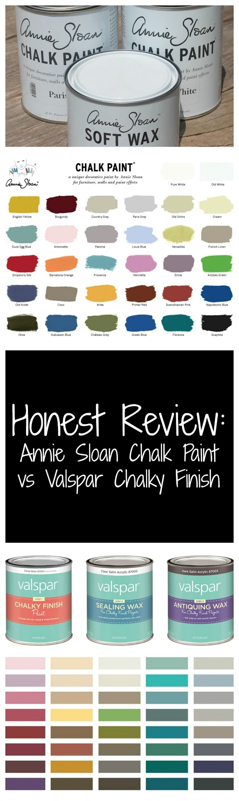 also honest review  valspar chalky finish vs annie sloan chalk paint rh lovesthefind