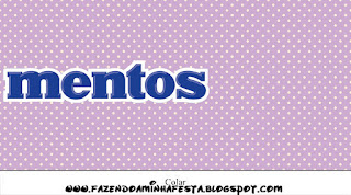 Lila con Lunares Blancos y Lazo Rojo: Etiquetas para Candy Bar de Primera Comunión para Imprimir Gratis.