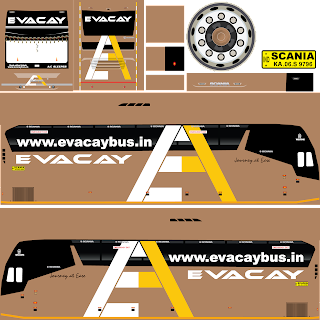 EVACAY Bus Livery | Bus simulator Indonesia livery Download