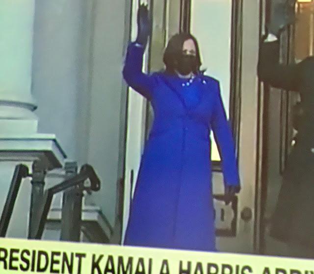 V.P. Kamala Harris on steps of the Capitol