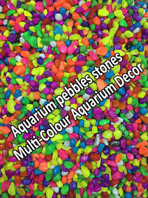 Aquarium pebbles stones Multi-Colour Aquarium Decor