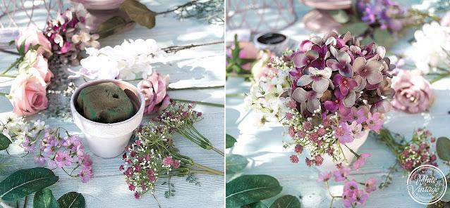 Blumengesteck für Geldgeschenk