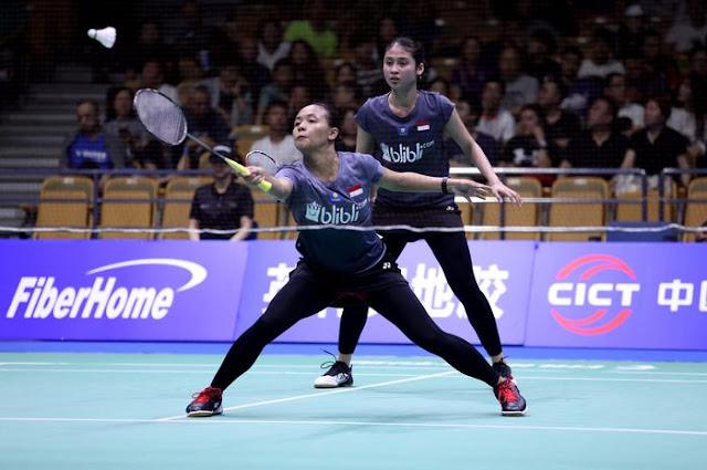 Pasangan Rizki Dan Della Menyerah Di Semifinal Kejuaraan Bulu Tangkis Asia 2019