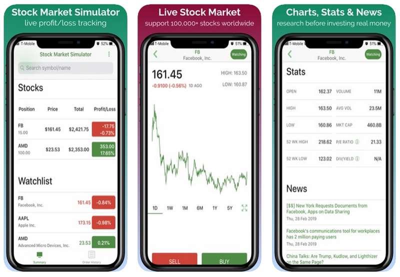 Aplikasi Saham Stock Market Simulator (apple.com)