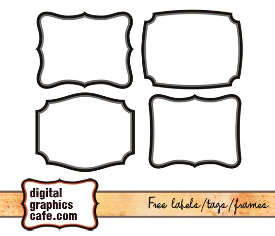 Free Digital Labels Frames Digital Scrapbooking Digital Graphics