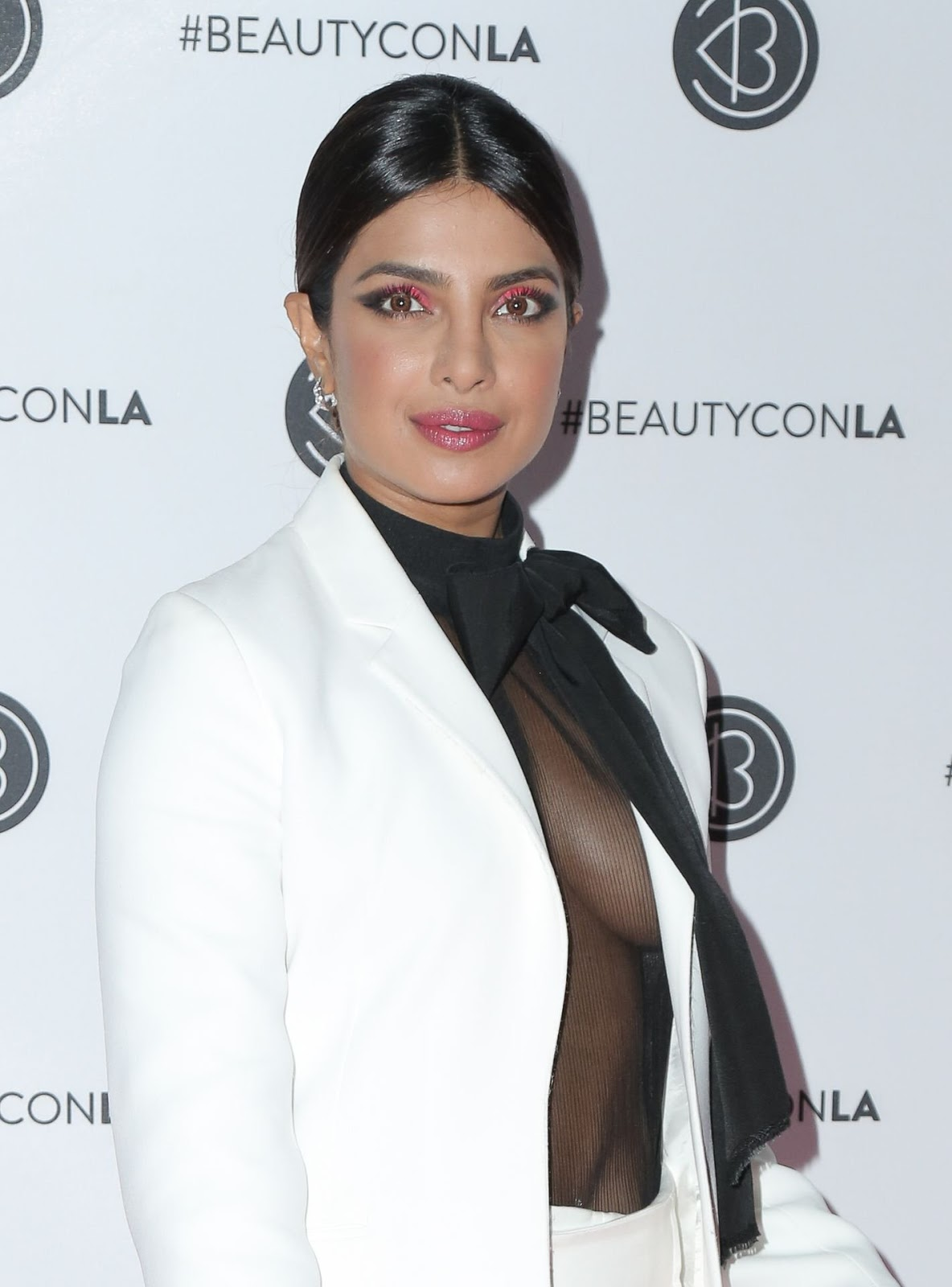 Priyanka Chopra Jonas goes braless in sheer top at Beautycon LA