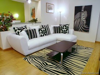 decoración sala animal print