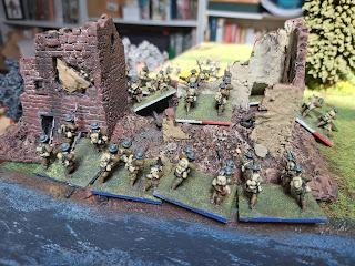 British infantry storm into Landrecies
