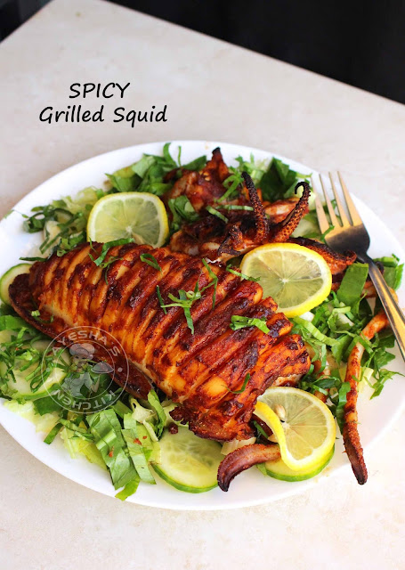 grilled squid calamari recipes squid roast healthy squid recipes stuffed squid stuffed calamari easy squid fry ayeshas kitchen seafood recipes