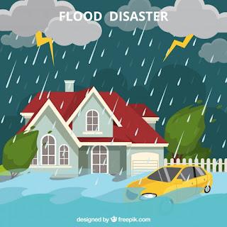 Bahaya Hidrometeorologis berupa bencana banjir