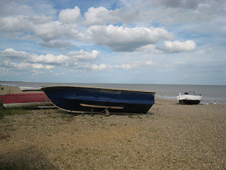 The beach at Dunwich, where an empty boat sparked the idea for Unnatural Causes