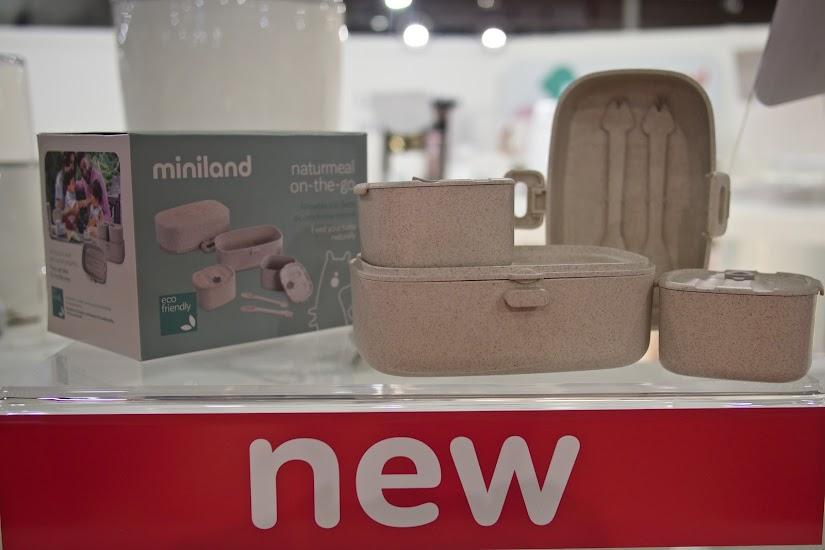 Tuppers para llevar la comida de material de maiz de Miniland